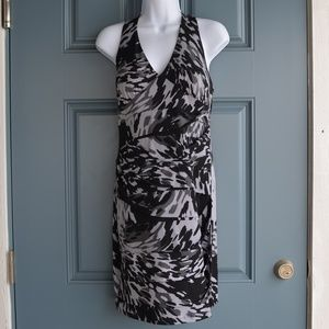 Black/White Abstract Print Dress by Intermission
